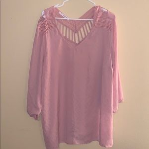 Maurices  20/22 Pink Blouse